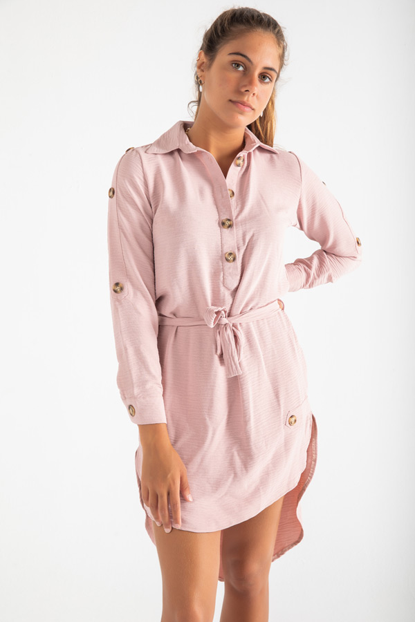 Takes You Everywhere Dress In Pink thumbnail